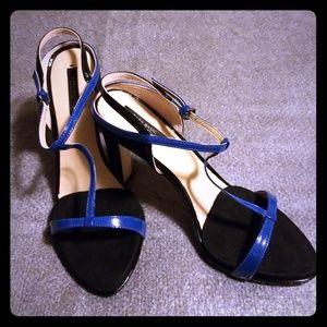 Black & blue Zara heels
